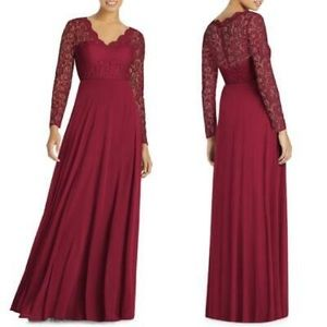 DESSY Collection BURGUNDY LACE & CHIFFON 3034S